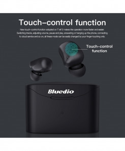 Bluedio Black Dynamic T Elf 2 Bluetooth Earphone