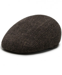 Aerlxemrbrae Brown Polyester Plaid Thick Cap