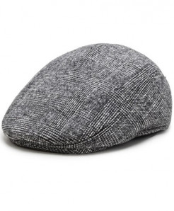 Aerlxemrbrae Gray Polyester Plaid Thick Cap
