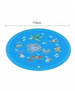 The North E Home 170 Cm Blue PVC Plastic Water Mats