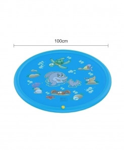The North E Home 100 Cm Blue PVC Plastic Water Mats