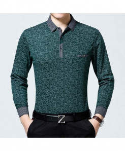 Zlittlelazy Green Polyester Pockets Floral Full Sleeve T-Shirt