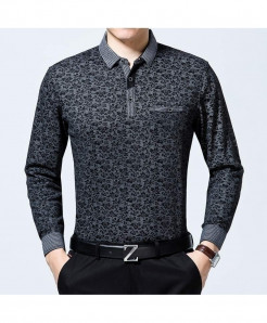 Zlittlelazy Black Polyester Pockets Floral Full Sleeve T-Shirt