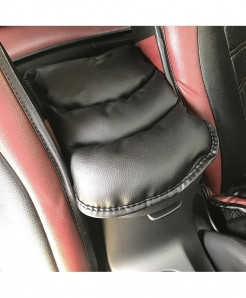 Black Vacuum Cotton Pu Car Armrests Covers Pad