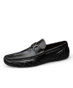 Rommedal Black Cow Leather Latex Casual shoes