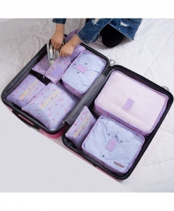Ruputin Purple Cherry Square Polyester Wardrobe Storage Cases
