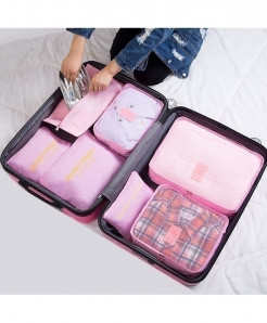 Ruputin Pink Square Polyester Wardrobe Storage Cases