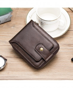 Yicheng Coffee Genuine Leather Wallet