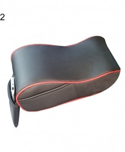 Black Plain Faux Leather Memory Cotton Armrest