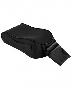 Bluelans Black Cotton Storage Pocket Armrest Covers