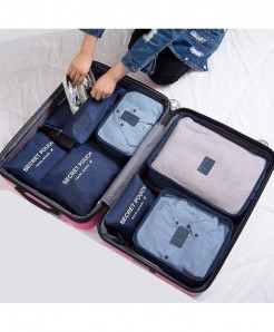 Ruputin Navy Polyester Wardrobe Storage Cases
