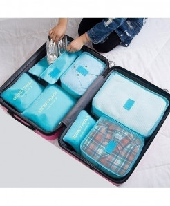 Ruputin Sky Blue Polyester Wardrobe Storage Cases