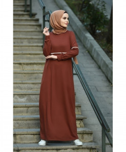 Choco Tipping Slim Fit Style Ladies Abaya FLK-449