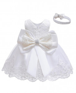Keaiyouhuo White Polyester Princess Dress
