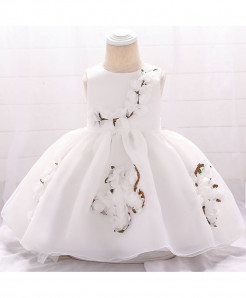 Keaiyouhuo White Floral Polyester Princess Dress