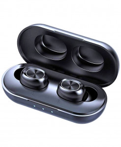 LAMCHINSTAR Black 5.0 TWS Bluetooth Earphone