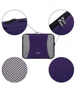 Purple RipStop Fabric Three Dimensional Type 9Pcs  Storage Bag