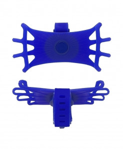Obshi Blue Pack Of 3 Silicone Bicycle Phone Holder
