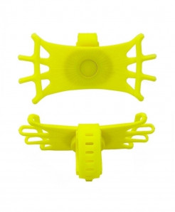 Obshi Yellow Pack Of 3 Silicone Bicycle Phone Holder