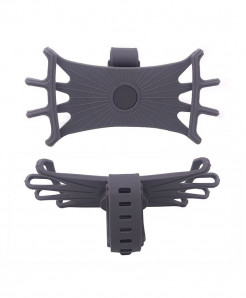 Obshi Gray Pack Of 3 Silicone Bicycle Phone Holder