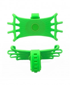 Obshi Green Pack Of 3 Silicone Bicycle Phone Holder