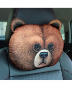 Chiziyo Bear Pack Of 2 Artificial Plush Car Pillow Cover Pillow Cover