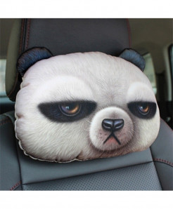 Chiziyo Panda Pack Of 2 Artificial Plush Car Pillow Cover
