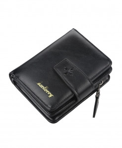 Baellerry Black Polyester Pu Wallet