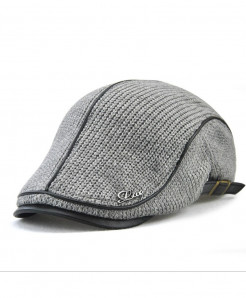 Jamont Gray Wool Solid Berets Hat
