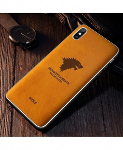 Iiozo Wolf Yellow Matte Leather Iphone Case