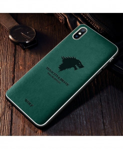 Iiozo Wolf Green Matte Leather Iphone Case