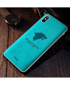 Iiozo Wolf Biue Matte Leather Iphone Case