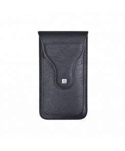 Black Vintage Plain Matte Mobile Bag Pouch