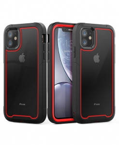 Luphie Red Plain iPhone Back Case
