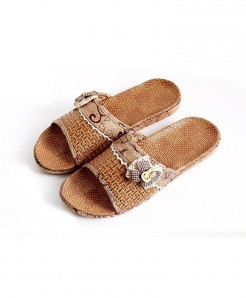 Stone Village Brown Poly Propylene Slippers AT-300