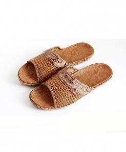 Stone Village Brown Poly Propylene Slippers
