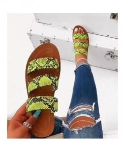 Fayuekey Green Bordered Pvc Slippers