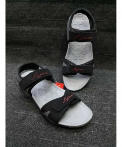 Black White Two-Strap Design Casual Sandal LW-6008