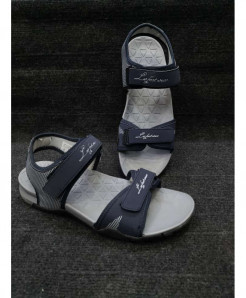 Gray Two-Strap Design Casual Sandal LW-6007