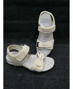 White Two-Strap Design Casual Sandal LW-6006