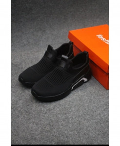 Black Stylish Design Slip-On Shoes LW-6004