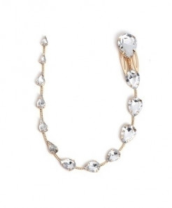 Fashionsnoops White Golden Trendy Zinc Alloy Hair Jewelry