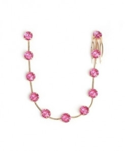 Fashionsnoops Pink Zinc Alloy Round Hair Jewelry