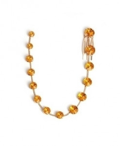 Fashionsnoops Yellow Zinc Alloy Round Hair Jewelry