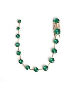 Fashionsnoops Green Zinc Alloy Round Hair Jewelry