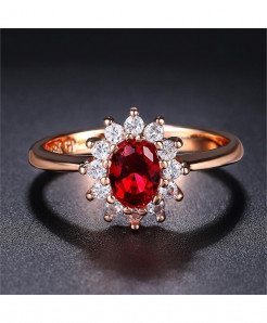 StoneAge Red Cubic Zirconia Oval Rings