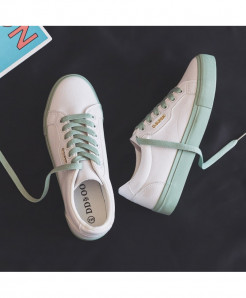 Hopus White Green Solid Casual Shoes