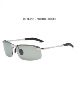 Giausa Silver Alloy Polarized Sunglasses