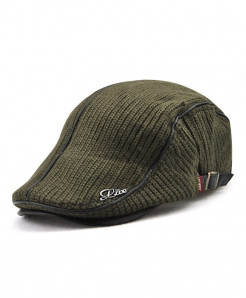 Jamont Army Green Wool Solid Berets Hat