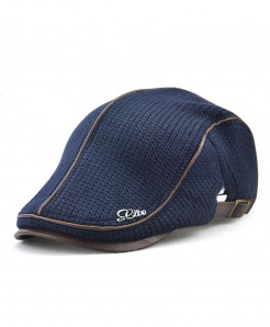 Jamont Blue Wool Solid Berets Hat
